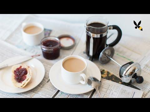 Café Au Lait with a French Press - HoneysuckleCatering
