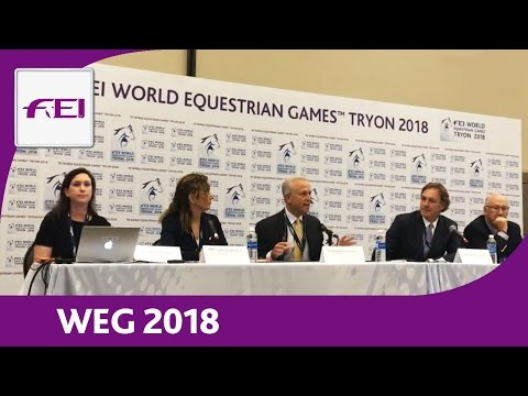 Re-Live   FEI World Equestrian Games 2018   Press Conference