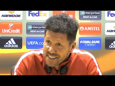 Diego Simeone Full Pre-Match Press Conference - Arsenal v Atletico Madrid - Europa League