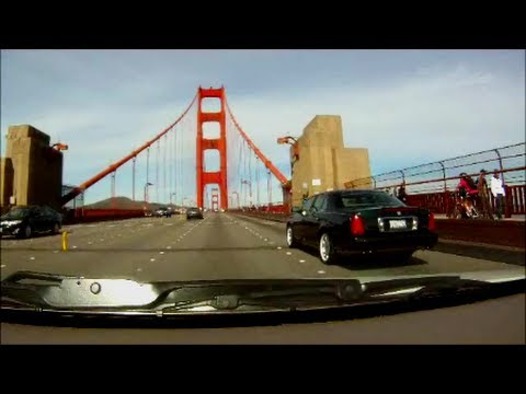 Едем по Сан-Франциско, через Золотой мост. Golden Gate Bridge, San Francisco