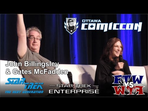 Star Trek  Gates McFadden & John Billingsley  Ottawa ComicCon  Panel
