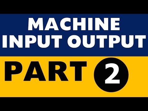 Machine Input Output Part -2 (IBPS PO / SBI / Clerk / SO /LIC /All Banking exams)