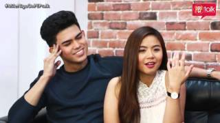 Miles Ocampo and Inigo Pascual on PEP TALK. Miles sometimes forgets she