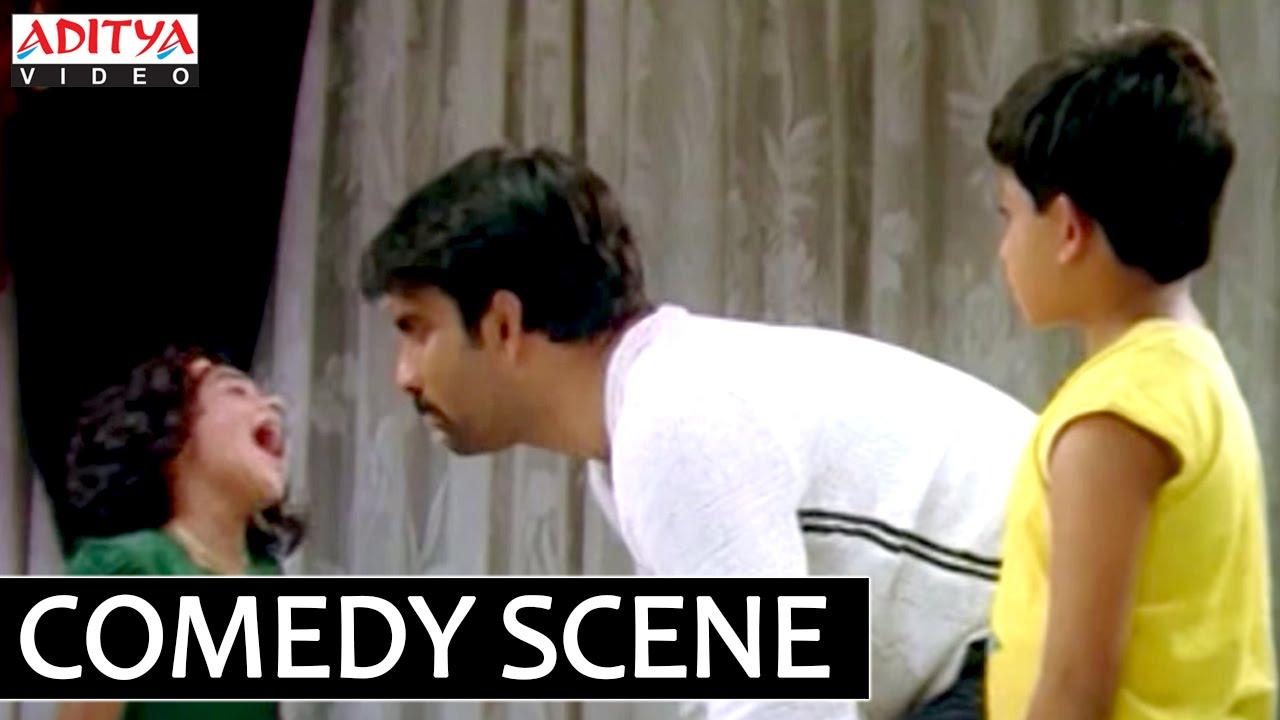 Ravi Teja Comedy With Children Bhadra Movie - Ravi Teja, Meera Jasmine