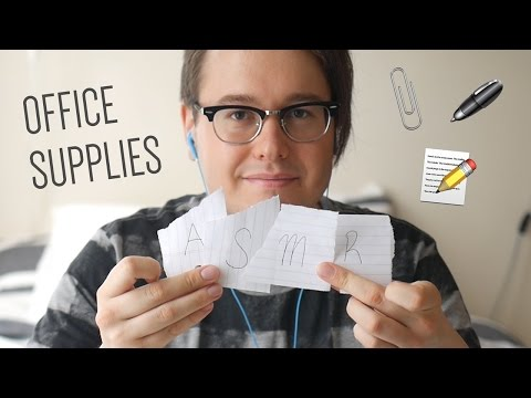 **ASMR Office Supplies** | Tapping, Scratching, Crinkles, Tingles | Soft-spoken