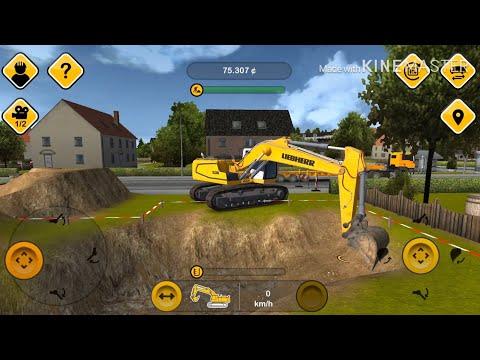 Construction simulator 2014 รถแม็คโครเล็ก,รถบรรทุก,รถยก เกมมือถือเสมือนจริง