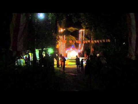 Sri Lanka,ශ්රී ලංකා,Illuminated Buddha statue beside road with music (03)