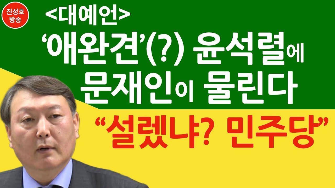 """'애완견'(?) 윤석렬에 문재인이 물린다! """"설렜냐? 민주당"""" (진성호의 직설)"""