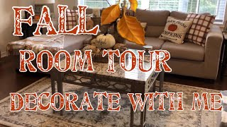Fall Family Room Tour || Decorate With Me