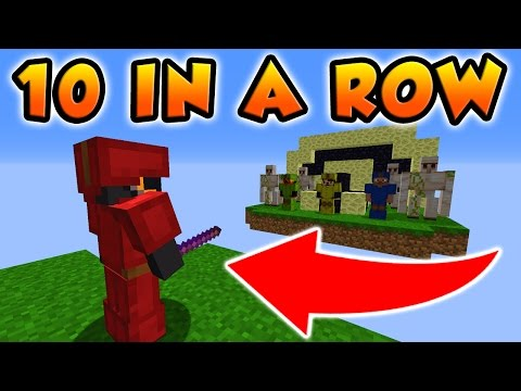 THIS HAS NEVER BEEN DONE BEFORE IN MINECRAFT BED WARS! (10 In a Row Challenge Part 2)