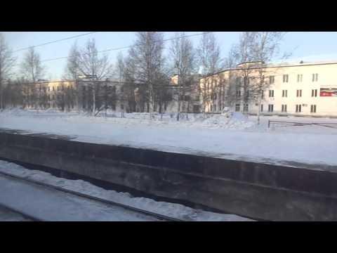 Departing Tynda on train to Komsomolsk Na Amure, Siberia