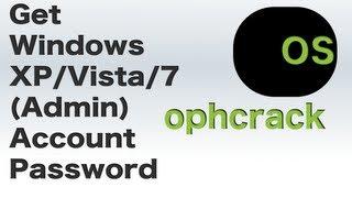 Ophcrack: Find Windows XP/Vista/7 Accounts Passwords | Full HD