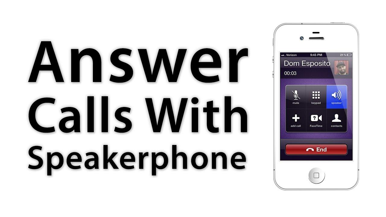 How to put my iphone 7 on speakerphone