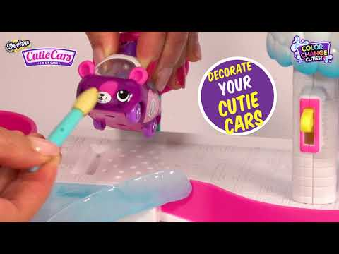 "SHOPKINS CUTIE CARS | How To Use ""Splash 'n' Go Spa Wash"" Playset 