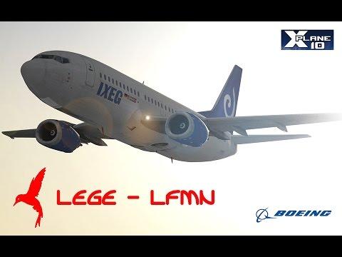 X-Plane 10.45 IXEG 737 Classic - Girona - Nice / HD