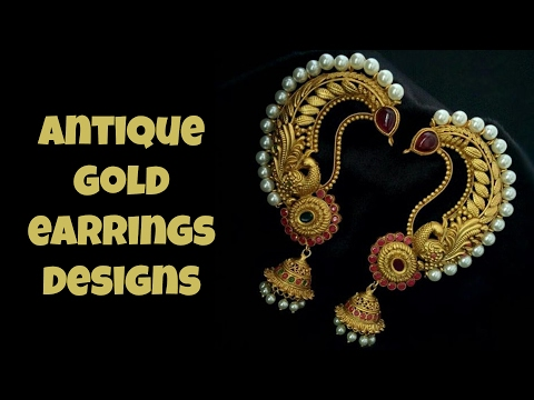 Antique Gold Earrings Design 2017