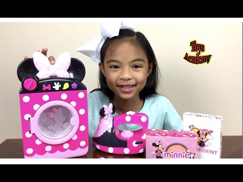 Thumbnail: Disney Minnie Mouse Laundry Set Unboxing Surprises Eggs Hello Kitty Toy Story | Toys Academy