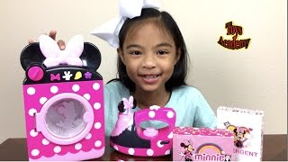 Disney Minnie Mouse Laundry Set Unboxing Surprises Eggs Hello Kitty Toy Story | Toys Academy