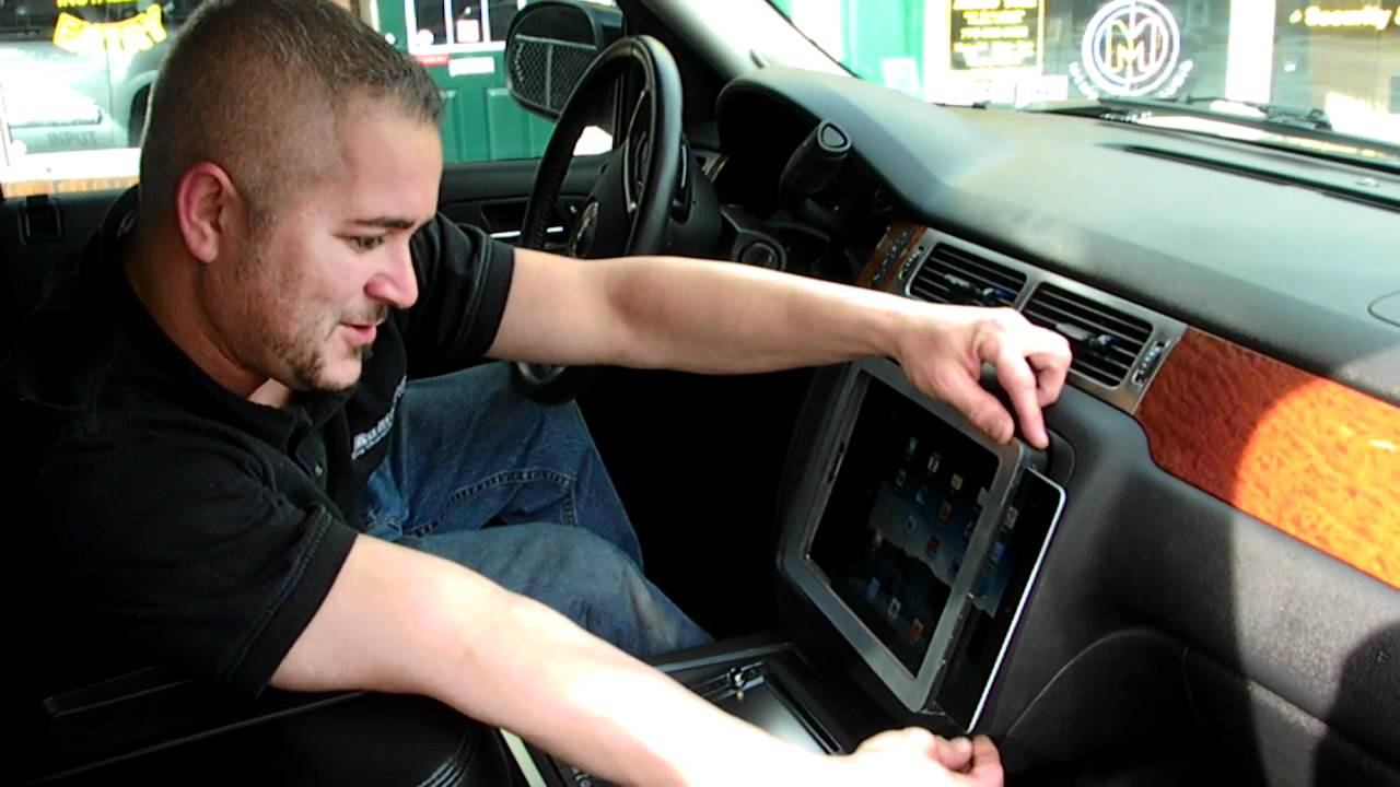 Ipad In Dash 2007 Yukon By Audiotrix Youtube