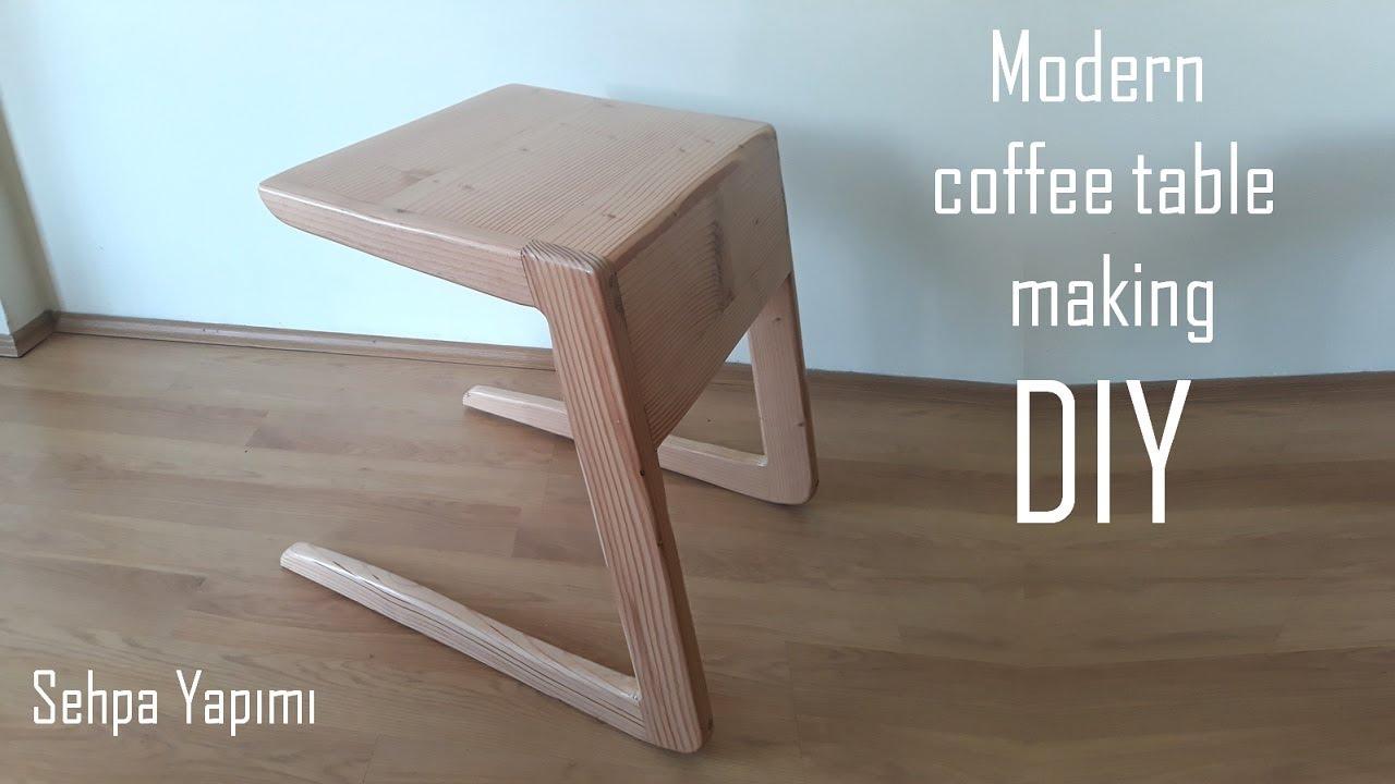 Modern sehpa yapımı / Wooden modern coffee table making