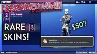 I SCAMMED A SKULL TROOPER ACCOUNT SCAMMER (Fortnite)