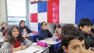 5/A Sınıfının Fen Bilimleri dersinde maddenin halleri konusu ile ilgili hazırladıkları sunumlar