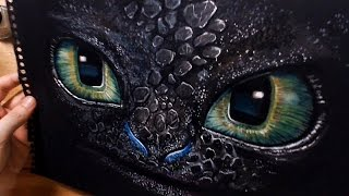 Speed Drawing: Toothless - How To Train Your Dragon (HTTYD)