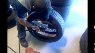 Run flat Michelin pax tire and ring install(, 2015-03-22T03:37:31.000Z)