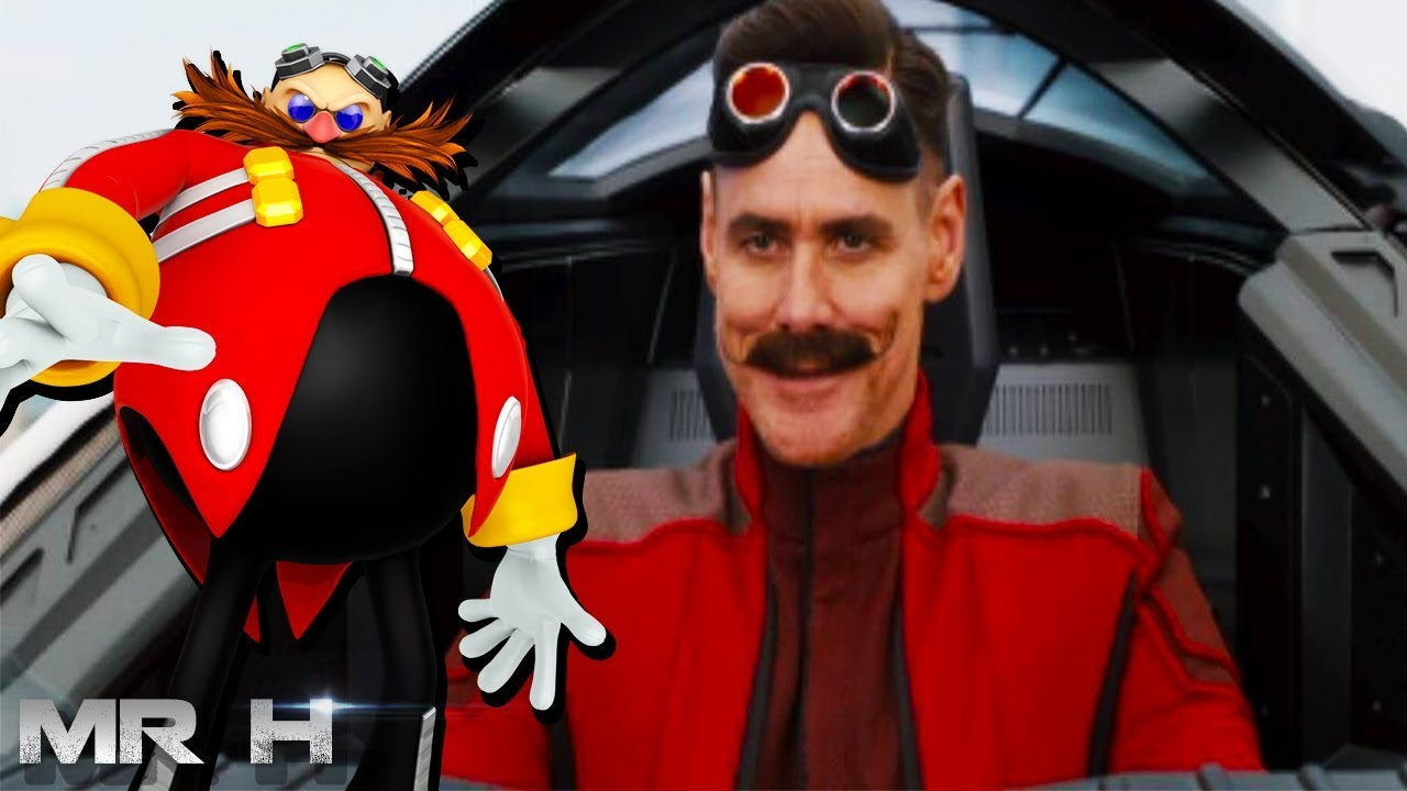 First Look Jim Carrey As Dr Robotnik For Sonic The Hedgehog Movie Youtube