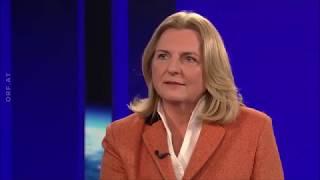 Außenministerin Dr. Karin Kneissl (parteifrei / FPÖ) im ORF Interview mit Armin Wolf