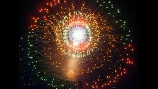 Amazing Fireworks Shells Maltese Wheels And Massive Balloon