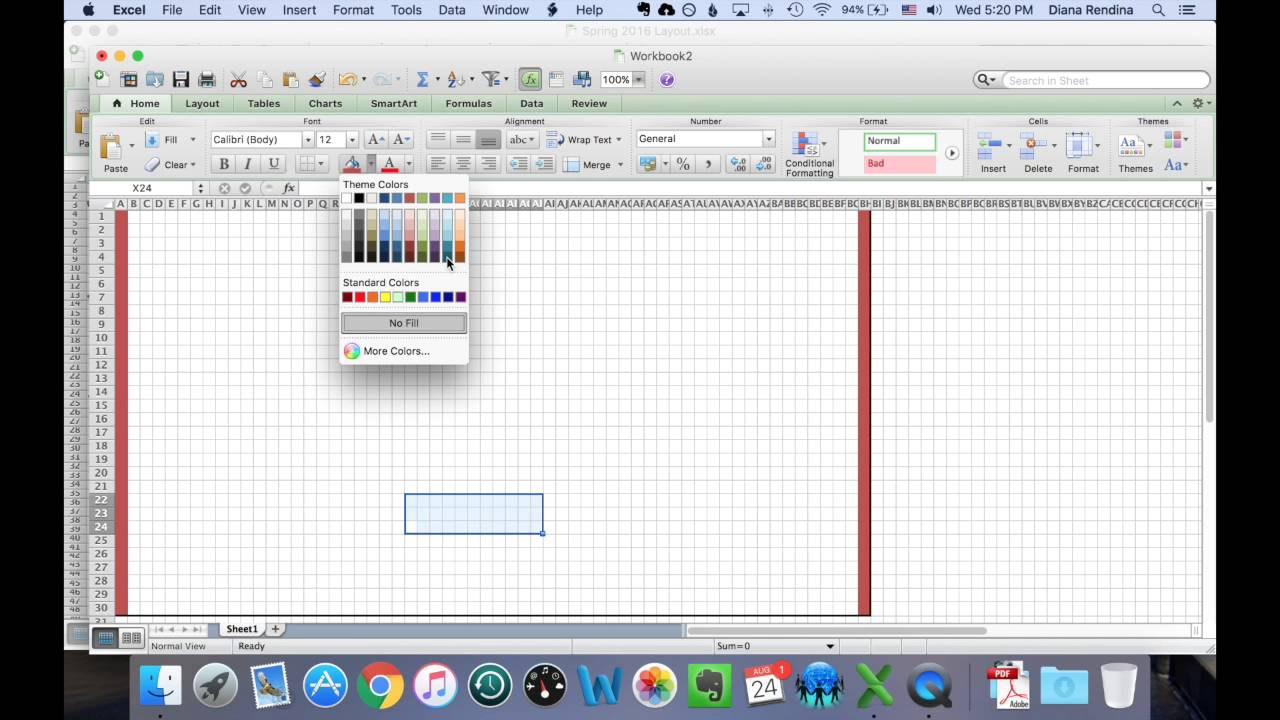 How to Create a Floorplan of Your Space in Excel | Renovated