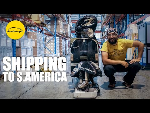 Shipping a motorcycle from South Africa to South America (Vespa travel round the world)