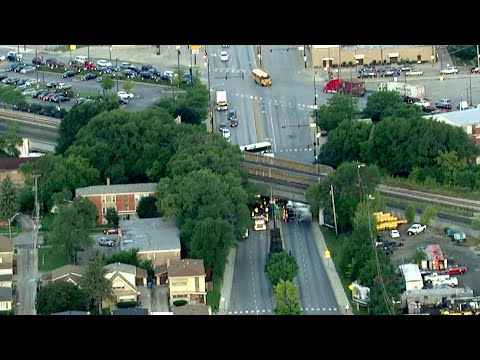 Metra SouthWest Service Moving Again After Truck Strikes Bridge Near Wrightwood