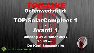 Oefenwedstrijd TOP/SolarCompleet tegen Avanti; 31 oktober 2017