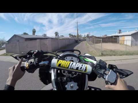 suzuki ltz400 on the streets of phoenix