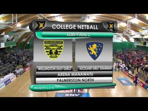 College Netball - Wellington East Girls v Auckland Girls Grammar