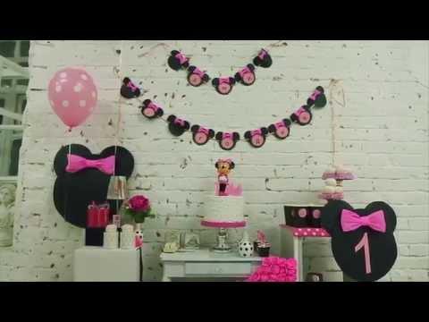 День рождения 1 годик в фотостудии в стиле Минни Маус. Нижний Новгород 2015