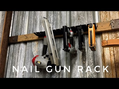 Metal Nail Gun Rack No Welding Doovi