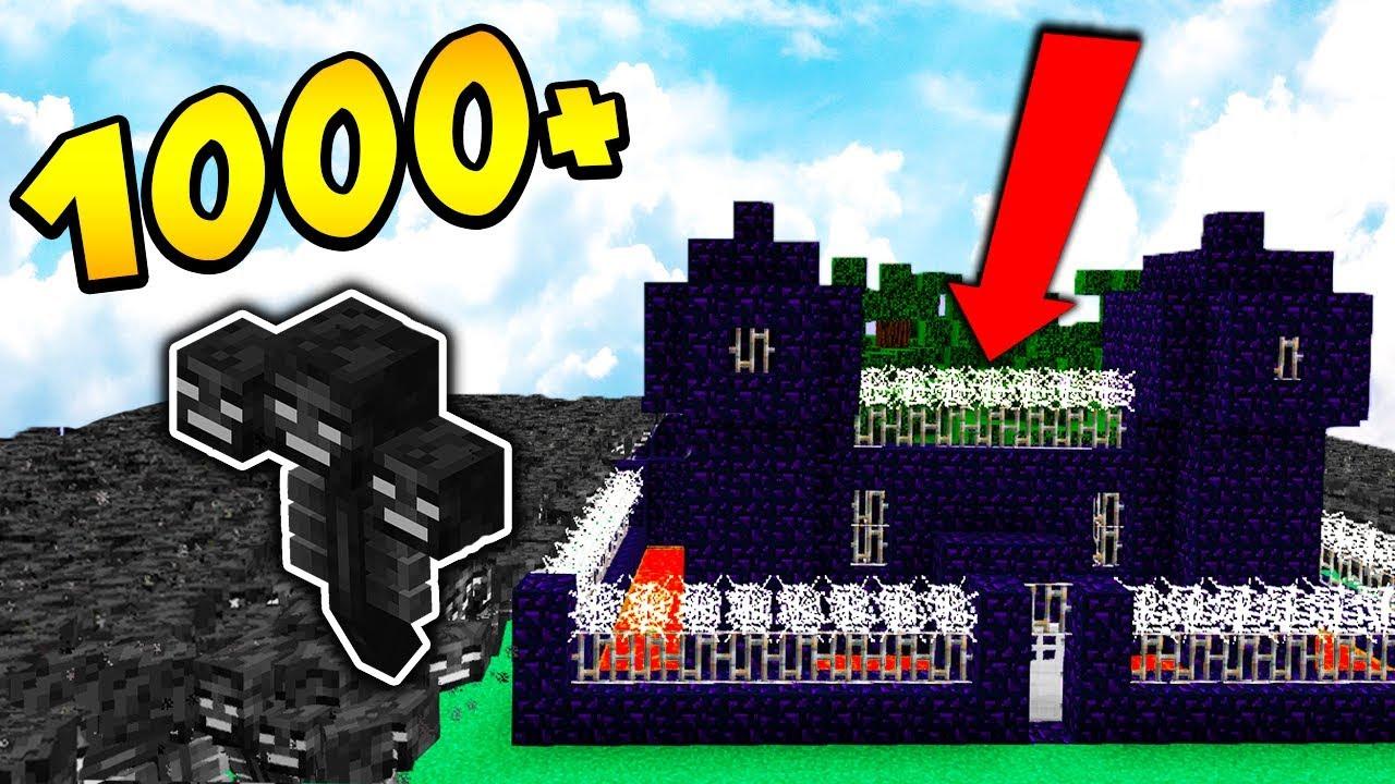 1000 WITHERÓW vs WIĘZIENIE + PUŁAPKA!!! – MINECRAFT APOKALIPSA #12