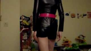 crossdresser in leather.