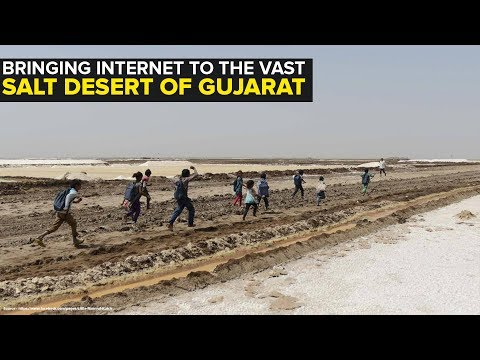 Bringing the entire world to the shacks of migrant workers in Gujarat's salt desert
