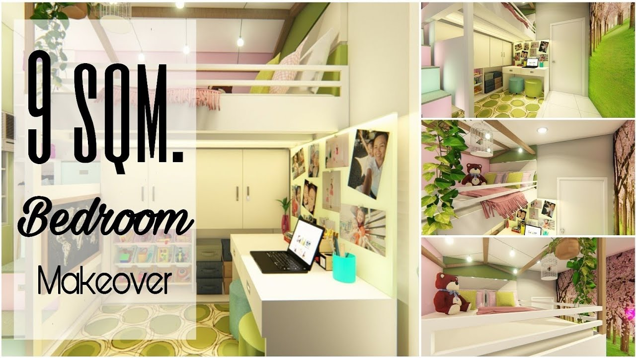 EXTREME BEDROOM MAKEOVER| INTERIOR DESIGN | KIDS BEDROOM ...