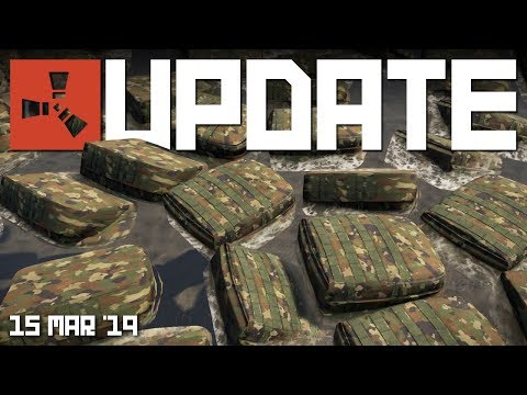 FLOATING BACKPACKS! Water tweaks | Rust update 15th March 2019 thumbnail