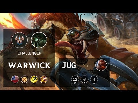 Warwick Jungle vs Gragas - NA Challenger Patch 9.17