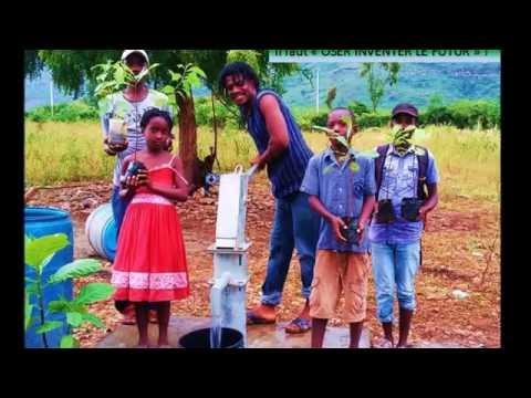 Bringing water to  Pak Nan Ginen, St Raphael, Haiti