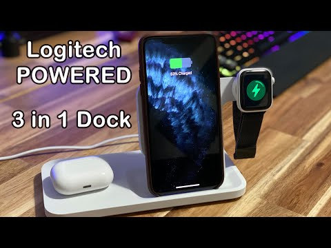 Logitech POWERED 3 IN 1 Wireless Charging Dock Unboxing & Review