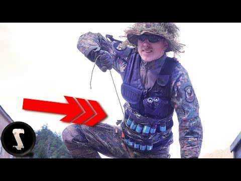 Guy Brings Home-made Airsoft RIGGED GRENADE VEST!