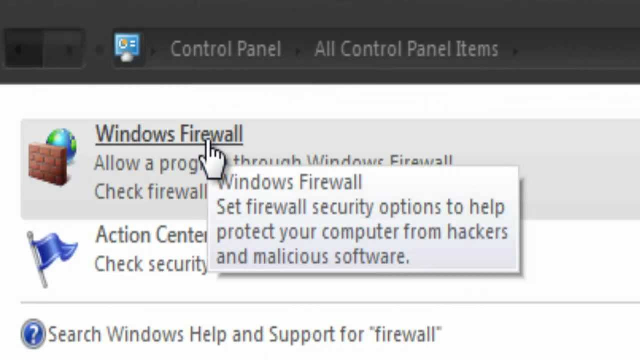 How To Block Internet Access Of An Application Through Firewall Youtube