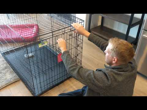HOW TO BUILD A 48 INCH DOUBLE DOOR FOLDING TOP DOG CRATE
